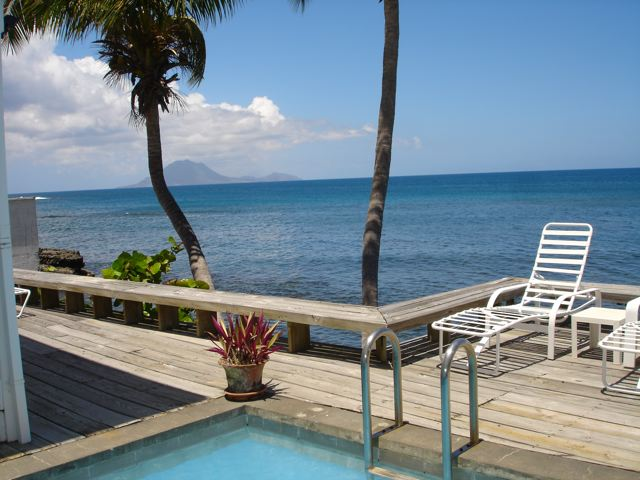 Sea front 2 bed house for sale on St Kitts