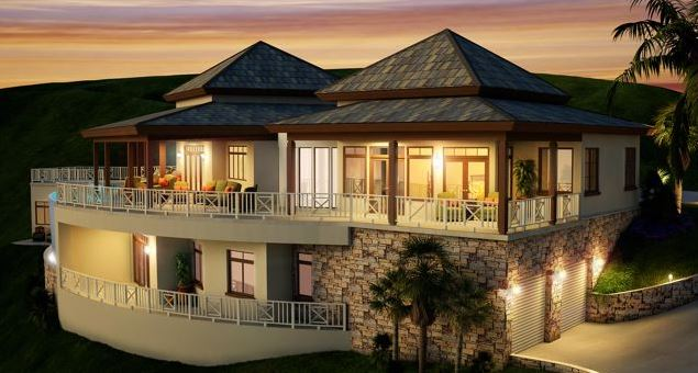 Sundance Ridge 3 Frigate Bay St Kitts Villa for Sale with Economic Citizenship