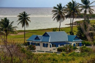 St Kitts golf course front real estate with Atlantic Ocean views