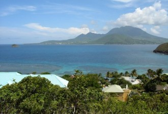 Turtle Beach lot for sale on St Kitts with sea views